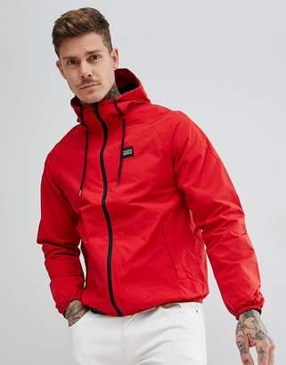 Pull&Bear Waterproof Hooded Jacket In Red