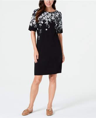 Karen Scott Floral-Print Dress