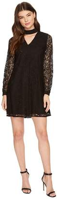 CeCe Paisley Lace Mock Choker Mini Dress Women's Dress
