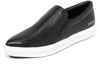 DKNY Trey Slip On Sneakers $228 thestylecure.com