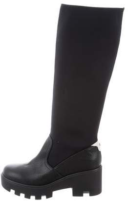 Pollini Leather Knee-Length Boots