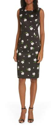 Milly Kendra Floral Print Sheath Dress