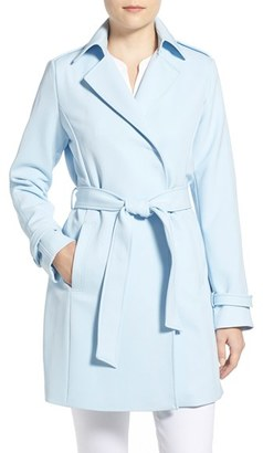 Women's T Tahari Crepe Trench Coat $148 thestylecure.com