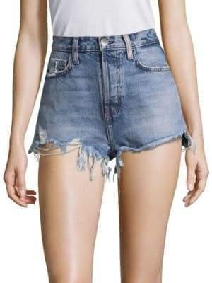 Current/Elliott High-Waist Destroyed Shorts