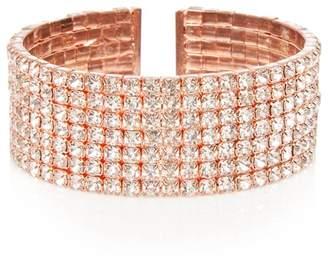 Quiz Rose Diamante Cuff