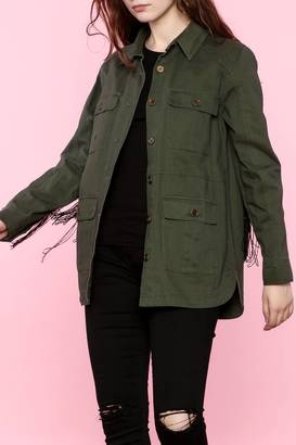 Blu Pepper Military Green Jacket $78 thestylecure.com