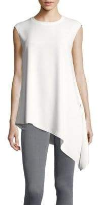 Jones New York Collection Asymmetrical-Hem Crepe Tunic
