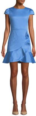 Alice + Olivia Kirby Short-Sleeve Ruffle Mini Dress