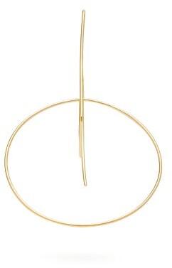 Roksanda Square And Circle Linked Single Earring - Womens - Gold