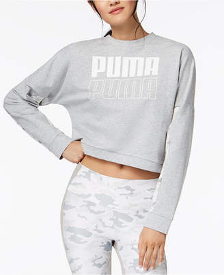Puma dryCELL Logo Cropped French Terry Sweatshirt