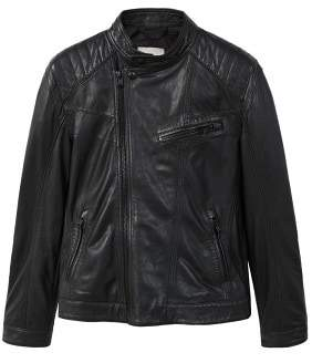 Mango man MANGO MAN Mixed leather biker jacket
