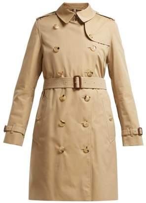 Burberry Kensington Cotton Gabardine Trench Coat - Womens - Beige