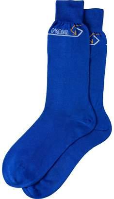 Prada jacquard logo socks