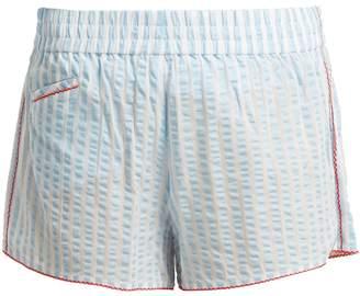 MORGAN LANE Betsy striped cotton-blend pyjama shorts
