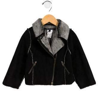 Lili Gaufrette Kids' Faux Fur Moto Jacket