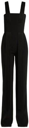 Galvan - Cortado Wide Leg Fringed Jumpsuit - Womens - Black