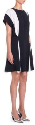 Stella McCartney Pleated Colorblock Dress