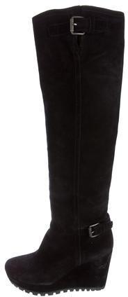 pradaPrada Wedge Knee-High Boots
