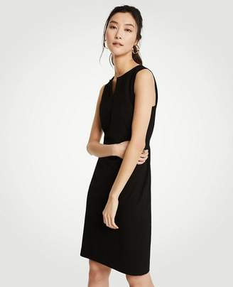 Ann Taylor Petite Split Neck Seasonless Sheath Dress