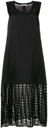 Jil Sander knitted hem dress