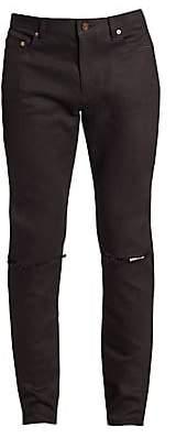 Saint Laurent Men's Distressed Skinny-Fit Jeans