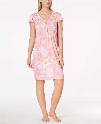 Miss Elaine Flutter-Sleeve Knit Nightgown