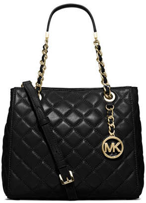 MICHAEL Michael Kors Susannah Small Quilted Tote Bag, Black