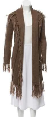 BB Dakota Fringe-Accented Knit Cardigan