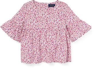 Ralph Lauren Floral Bell-Sleeve Top