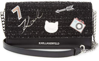 Karl Lagerfeld Paris K/Klassik Leather Wallet On Chain