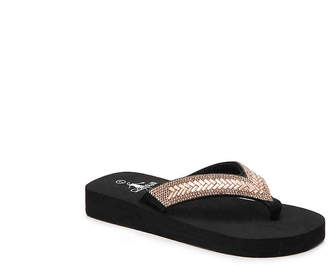 Corkys Neptune Toddler & Youth Wedge Flip Flop - Girl's