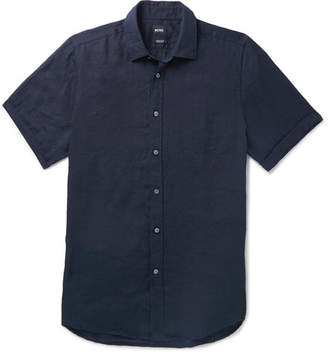 1290fdee1 Hugo Boss Men Linen Shirts - ShopStyle UK
