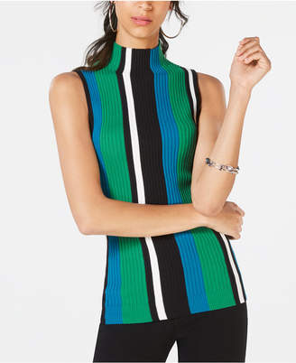 INC International Concepts I.n.c. Petite Striped Sleeveless Sweater, Created for Macy's