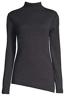 Elie Tahari Women's Marcella Shoulder Detail Turtleneck Sweater