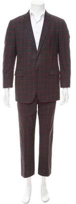 Etro Wool Windowpane Suit