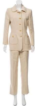 Oscar de la Renta Vintage Fringe-Trimmed Pantsuit