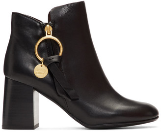 See by Chloe Black Medium Louise Ankle Boots