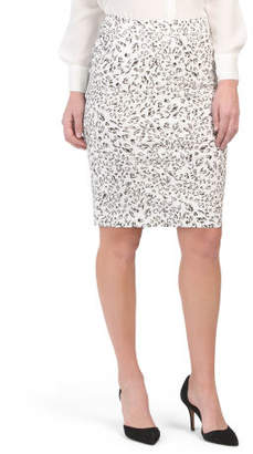Pull On Knee Length Pencil Skirt