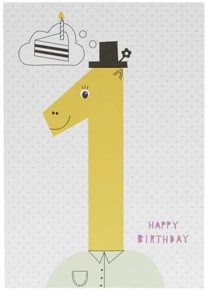 Karin Akesson Happy Birthday Age 1 Card