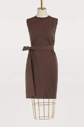 Rick Owens Camel wool and linen dress