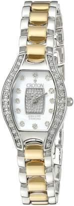 Croton Watches Women's CN207534TTPV Analog Display Quartz Two Tone Watch