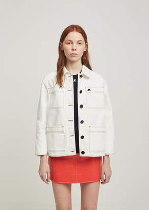 Courreges 4 Pocket Denim Jacket White