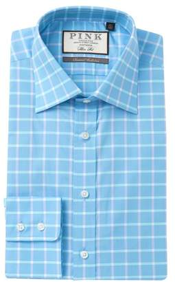 Thomas Pink Horseforth Check Slim Fit Dress Shirt