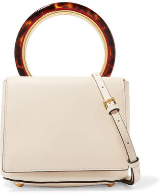 Marni Pannier Leather Shoulder Bag - Cream