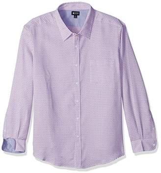 Haggar Men's Big and Tall Long Sleeve Tuckless Shirt