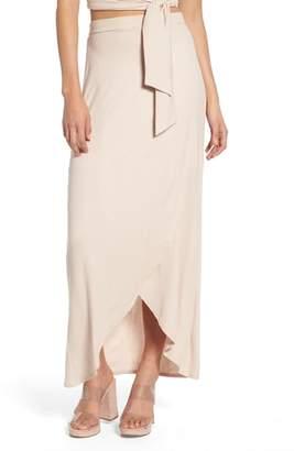 4SI3NNA Rib Maxi Skirt