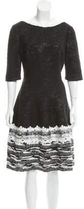 Talbot Runhof Embellished Knee-Length Dress