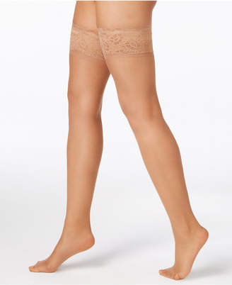 Hanes Women's Silky Sheer Lace Top Thigh Highs Hosiery 0A444