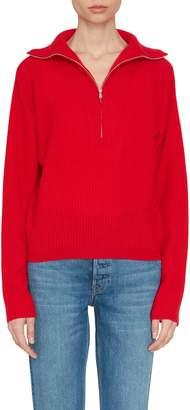 Allude Half-Zip Cashmere Sweater