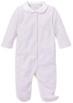 Ralph Lauren Girls' Embroidered Velour Footie - Baby